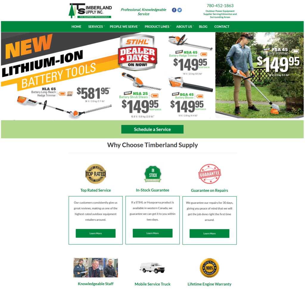 Timberland Supply Website